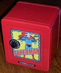 Toy Superman safe turned into a